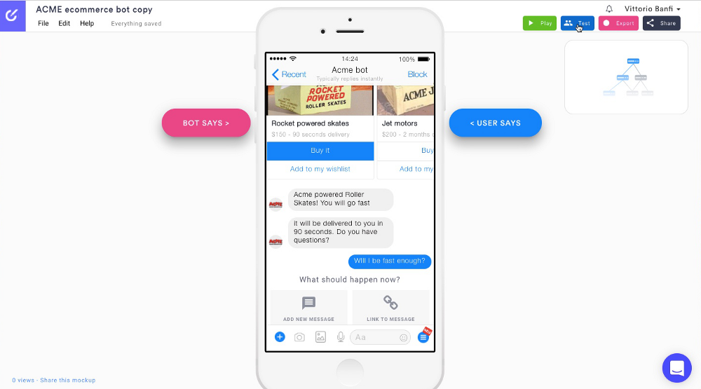 User testing on chatbots and voice