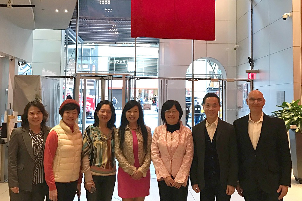 Warren Friesner, Erick Kuo and Mandarin Language Professors at Taiwan Economic and Cultural Office, New York