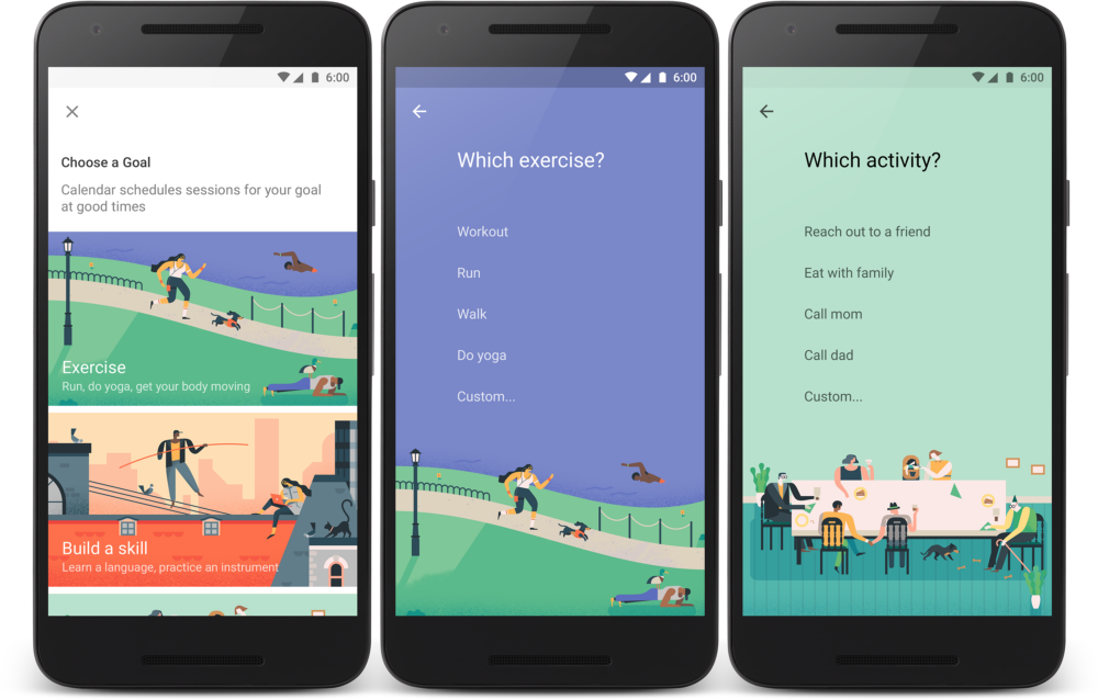 All Google Calendar Illustrations : Picture a better you how google calendar uses