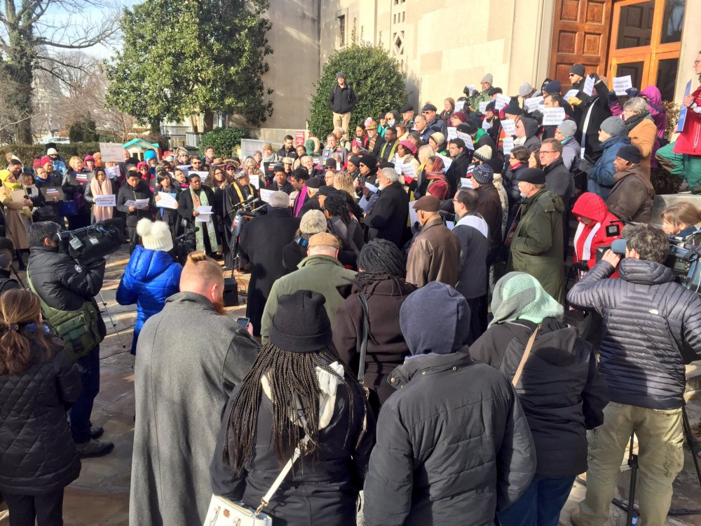 Faith leaders rally to protest Jeff Sessions' nomination