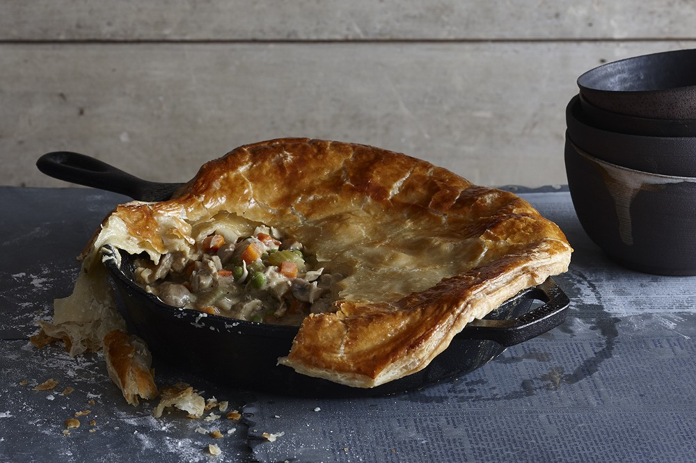 cream of chicken pot pie recipe with puff pastry