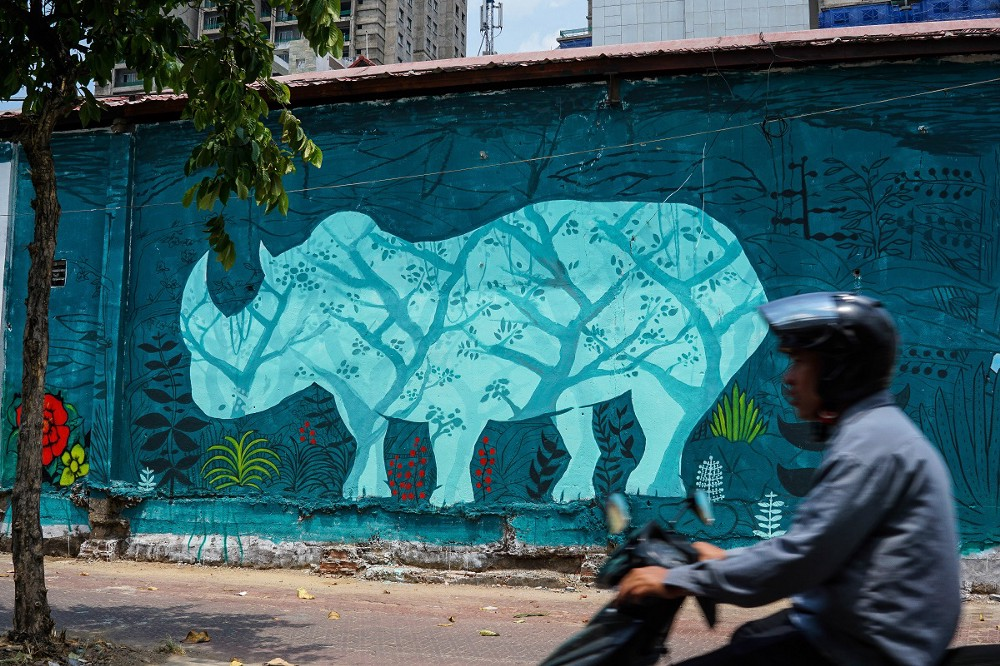 a graffiti campaign in ho chi minh city aims to educate