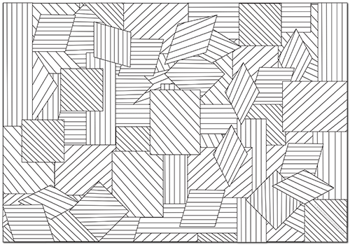 Our REST API as a geometric pattern from a coloring book