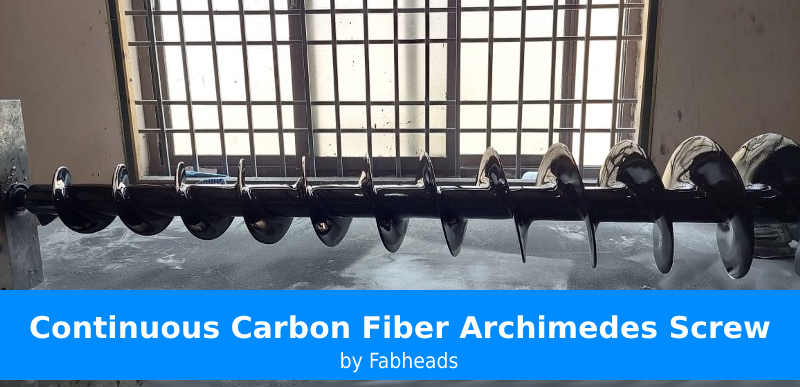 Carbon Fiber Archimedes Screw by Fabheads