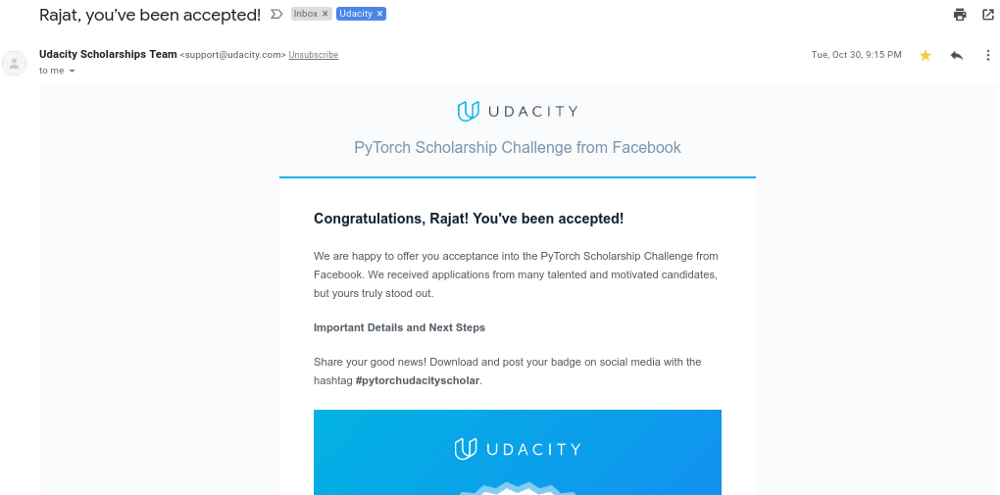 How I got accepted into PyTorch Scholarship Challenge from