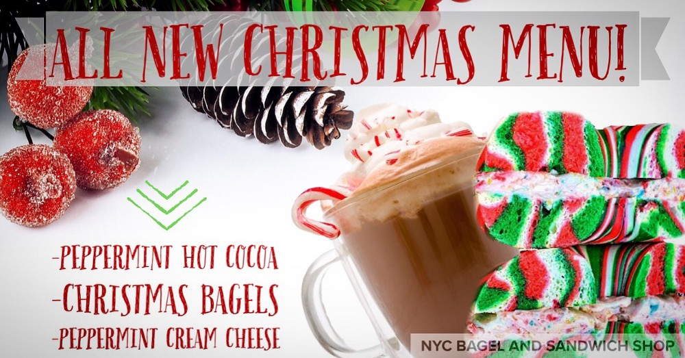 Christmas Flavors.Nyc Bagel And Sandwich Shop Franchise Introduces Christmas Menu