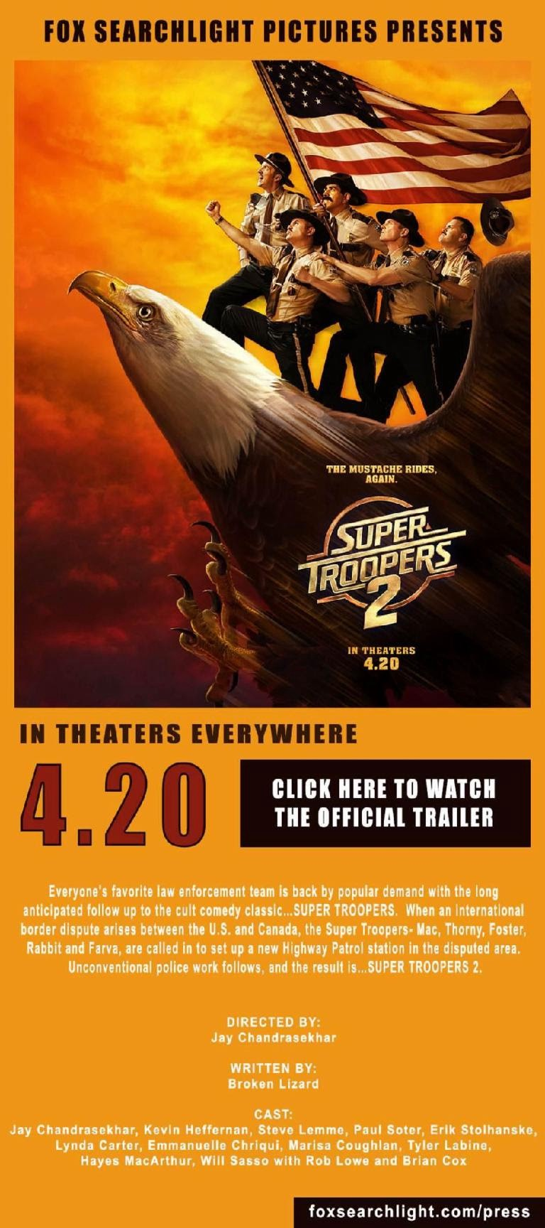 See the new poster for Super Troopers 2