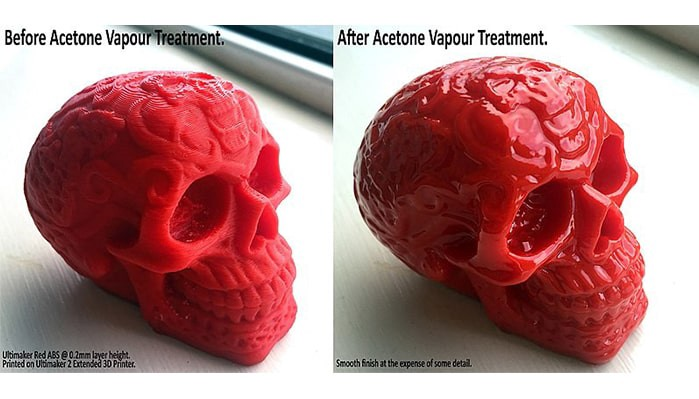 Before and After Vapor treatment (Image courtesy: Celtic Skull before and after Acetone by RetromanIE Licensed under CC BY-SA 4.0)