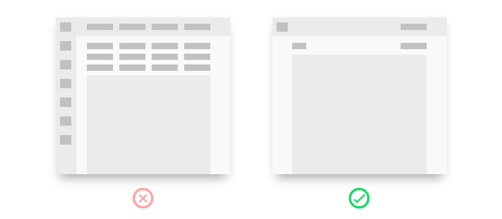 UX Best Practices - Less Clutter - Graphic