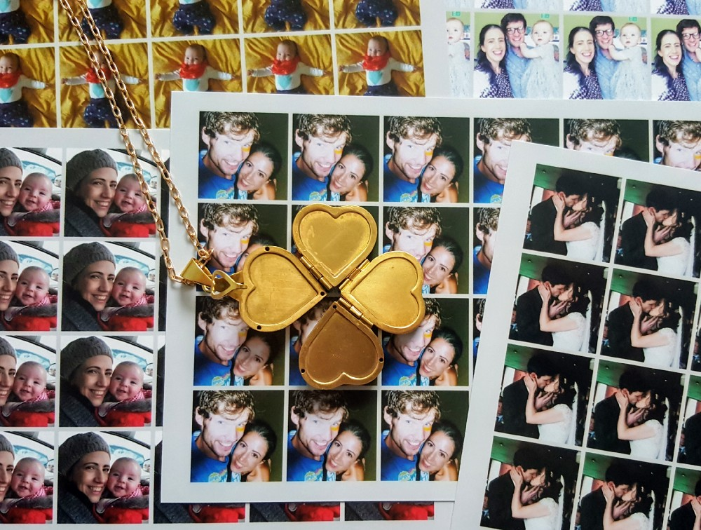 How to print photos for a heart locket