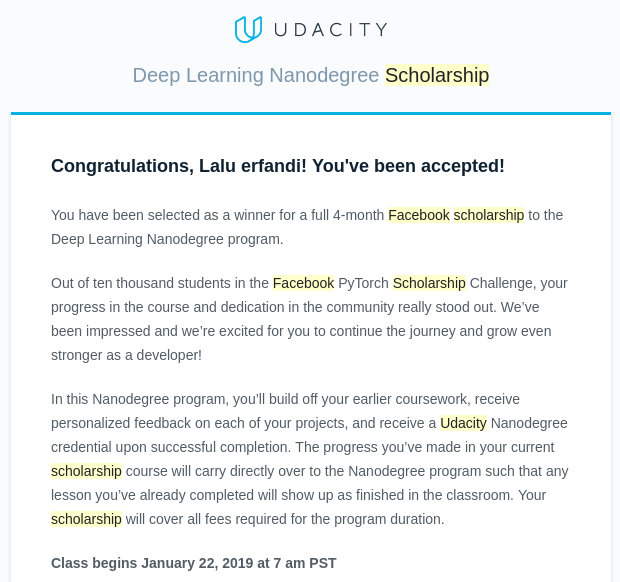 My Study Journey on Facebook PyTorch Scholarship at Udacity