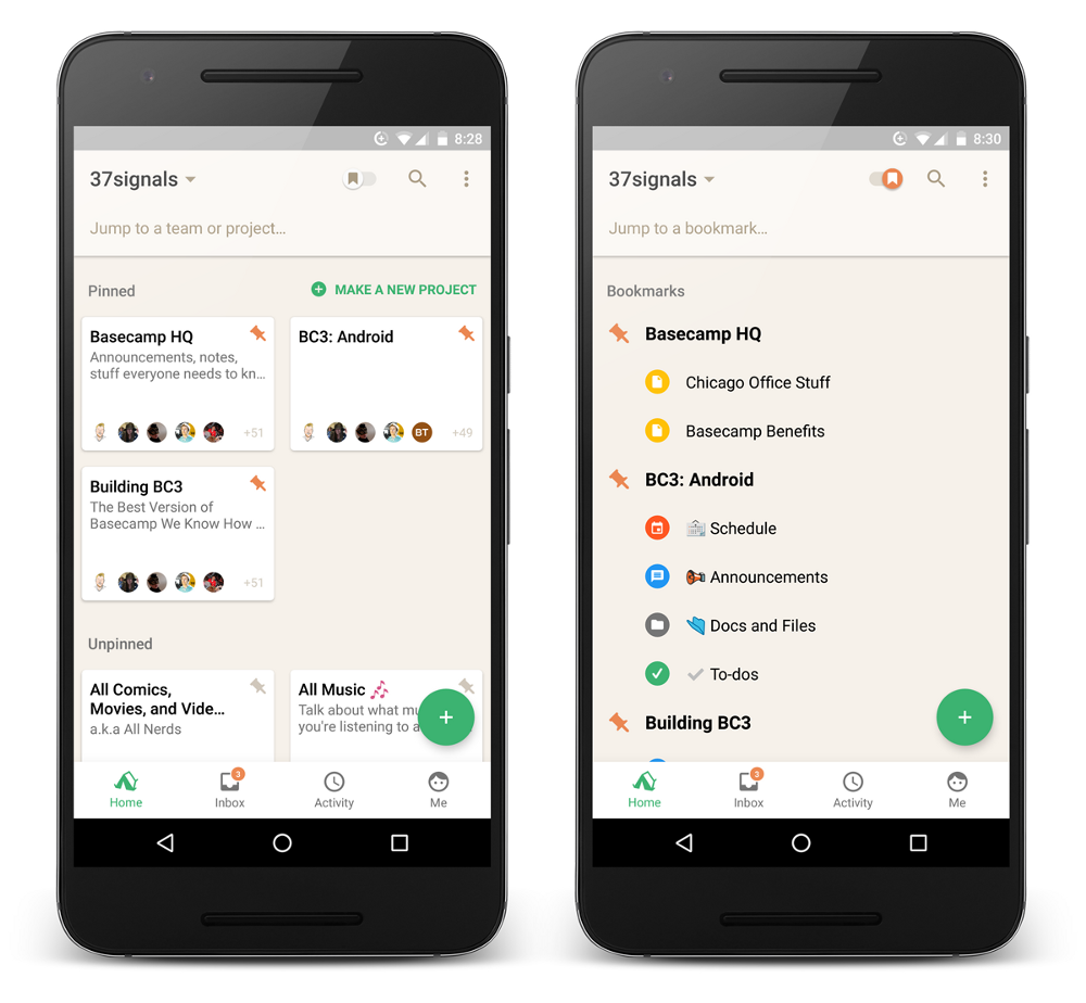 new in basecamp 3 for android smoother home screen and faster account switching