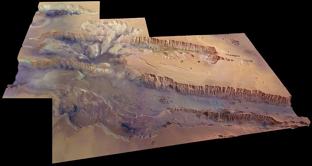 The Largest Canyon in the Solar System Seen in New ESA Images