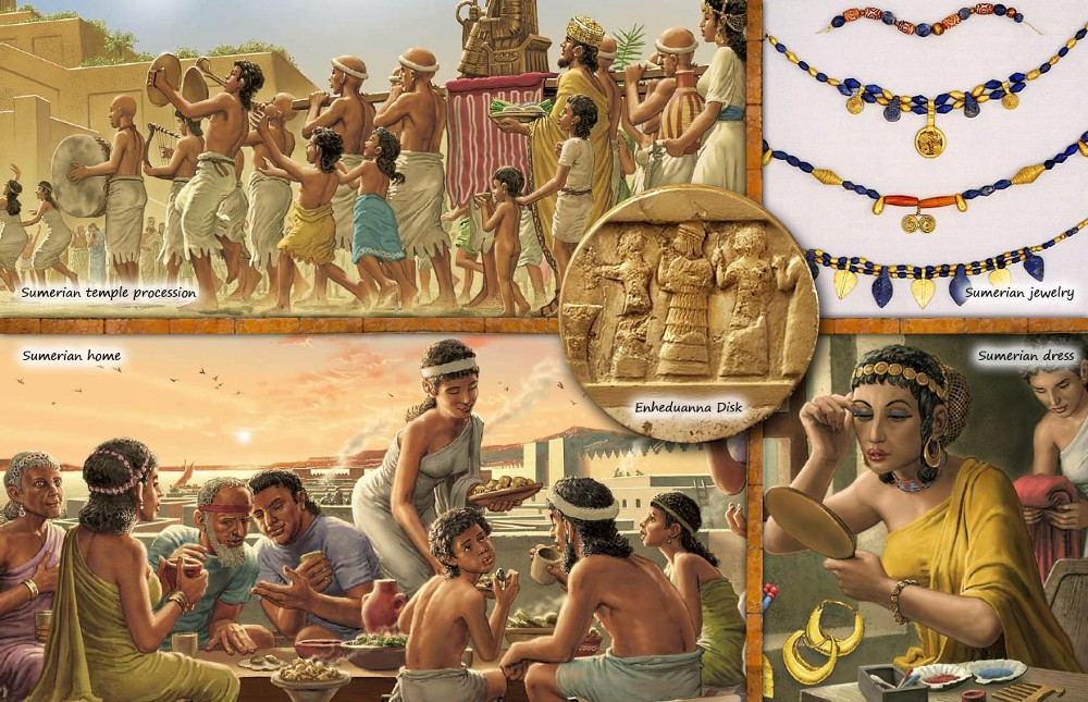 the history of the sumerian society and the evidence The sumerian king list , records that eight kings reigned before a great flood after the flood, various city-states and their dynasties of kings temporarily gained.