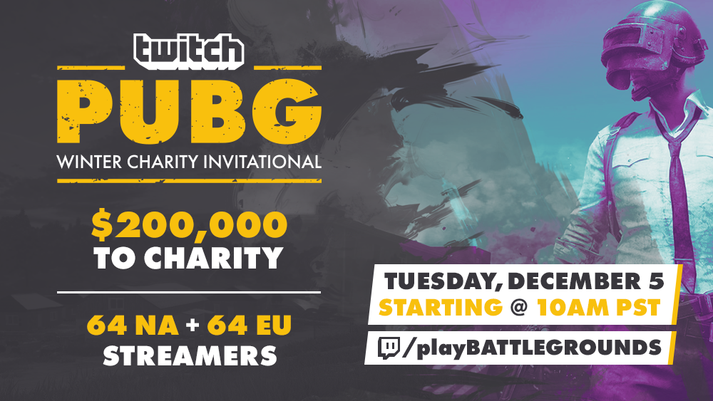 Chicken Dinners For Charity Don T Miss The 200k Twitch Pubg Winter