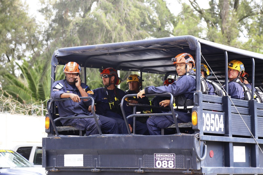 Working with their Mexican USAR counterparts, the team searched a total of eight buildings in Mexico City over three days.