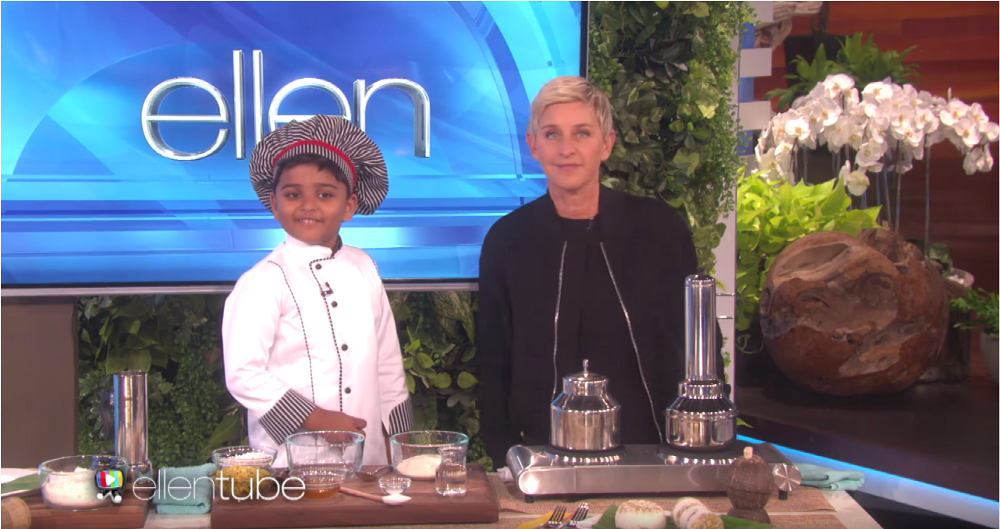 Youngest Kid to be feautured in famous Ellen DeGeneres Show!