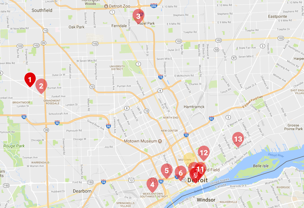 Hottest Restaurants In Detroit Nov 2017 And How To Get There Using