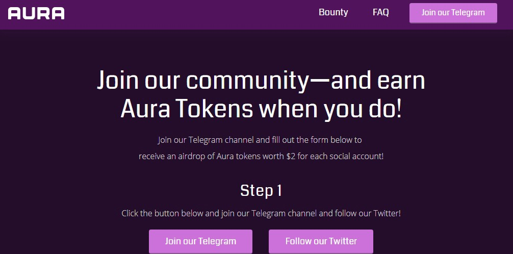 Aura network is airdropping aura tokens4 airdrops and bounty how to join step by step ccuart Gallery