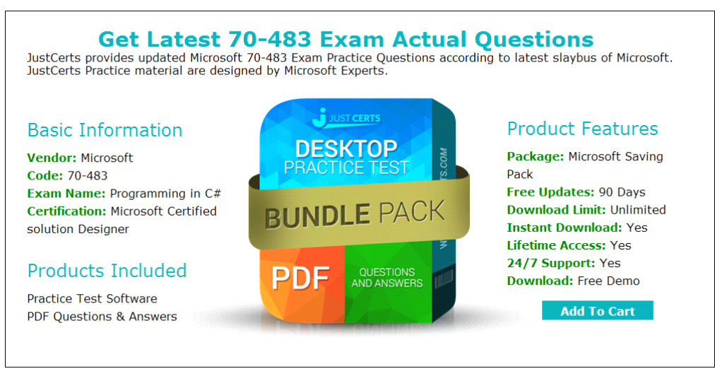 Microsoft Certified Solution Designer 70483 Exam Questions Answers