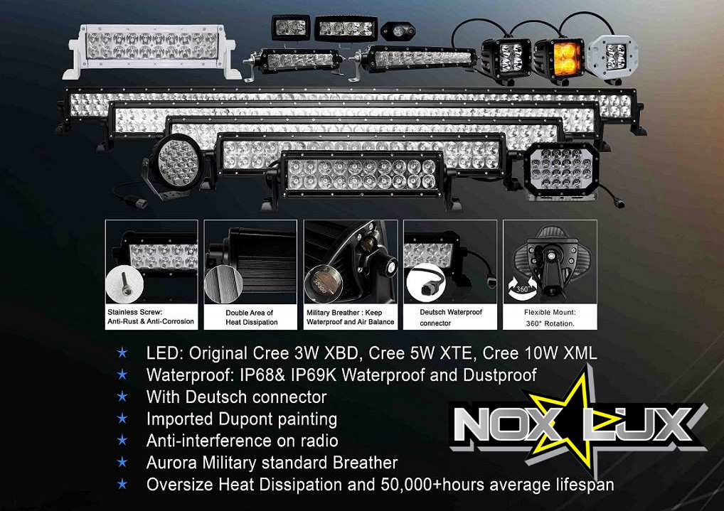 Off road led light bars nox lux medium off road led light bars aloadofball