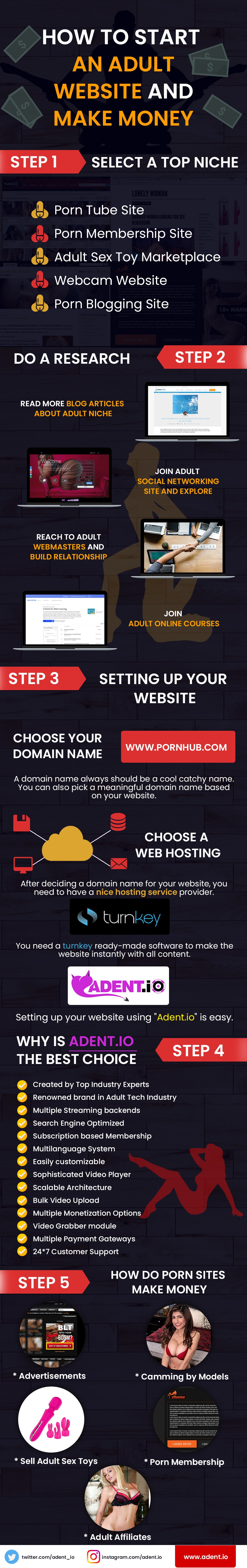 Web site hosting adult