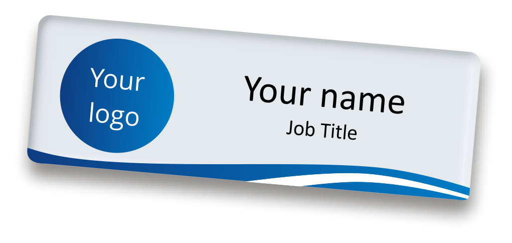 make an attractive identification with magnetic name tag