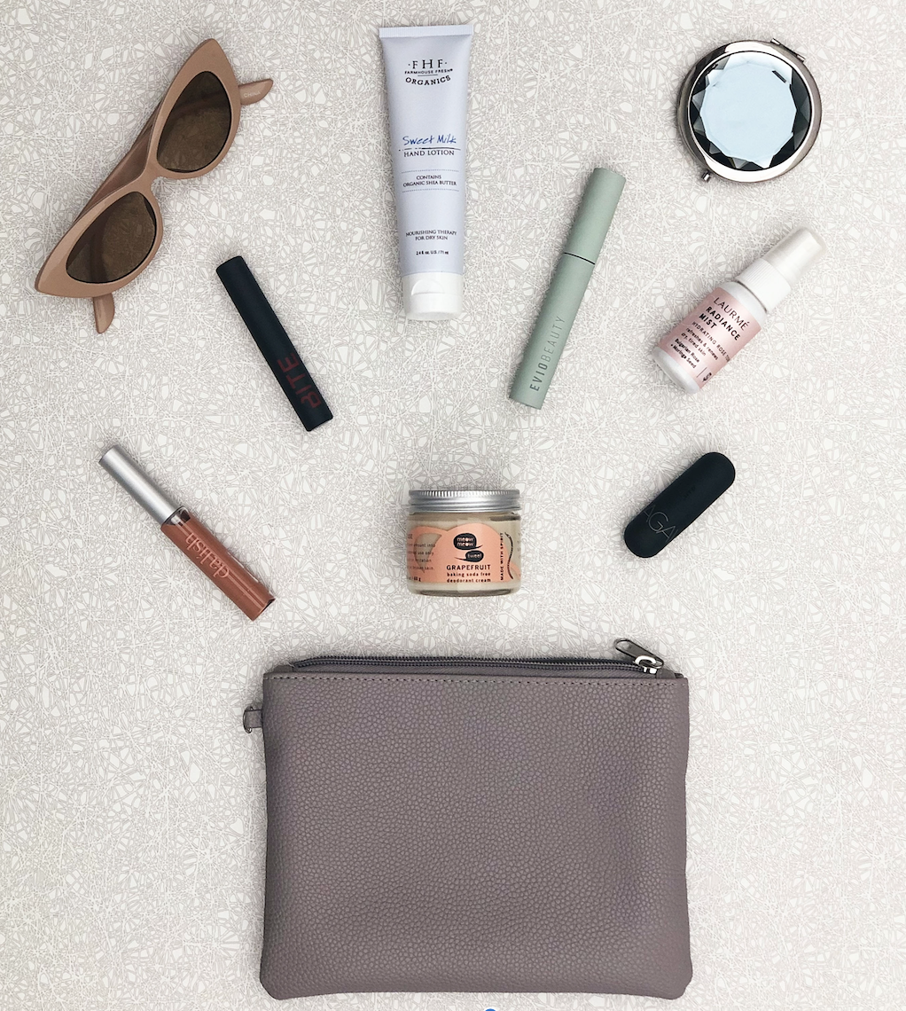 clean makeup bag
