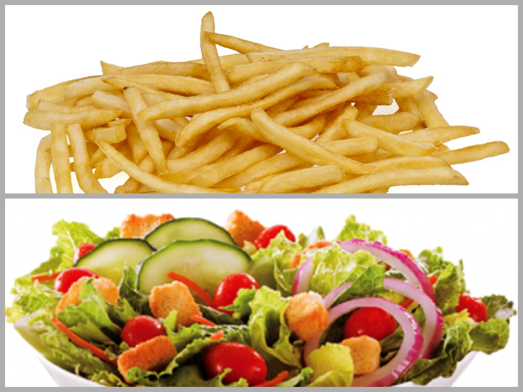 Fries or salad fit yourself club solutioingenieria Images