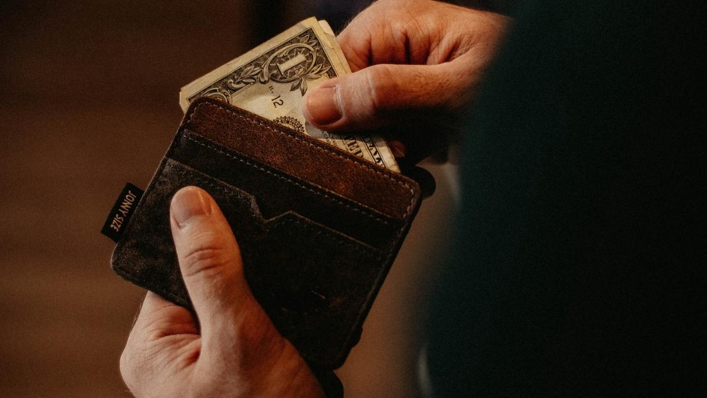A wallet with money sticking out.