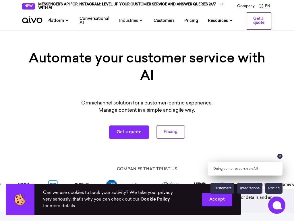 Aivo offers bots for businesses of all scales