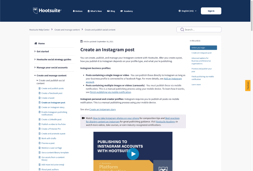 The Hootsuite Help Center post-launch