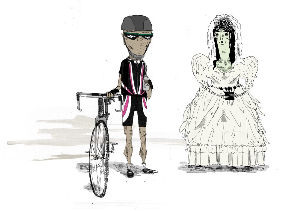 Vampire Bride and Cyclist