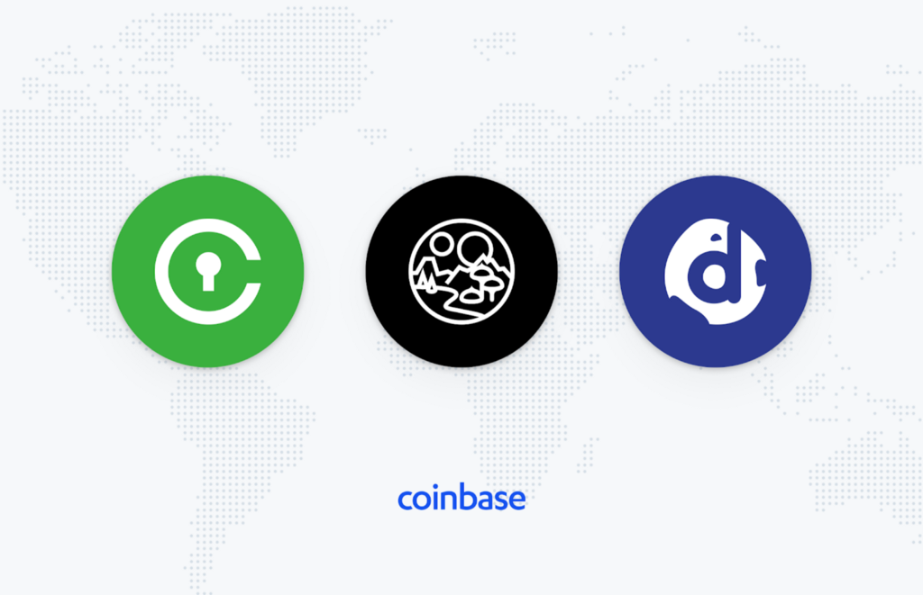 Civic (CVC), Decentraland (MANA), and district0x (DNT), are now available on Coinbase