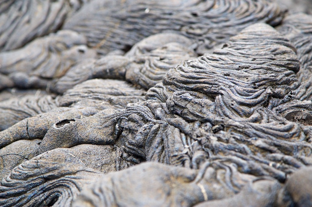 Photos Of The Galápagos Image: Interesting formations on the ground. Is this the cause of the sea or an old lava flow?