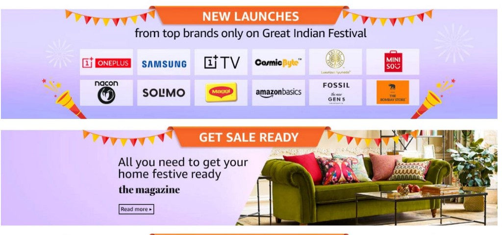 Amazon Great Indian festival sale banner