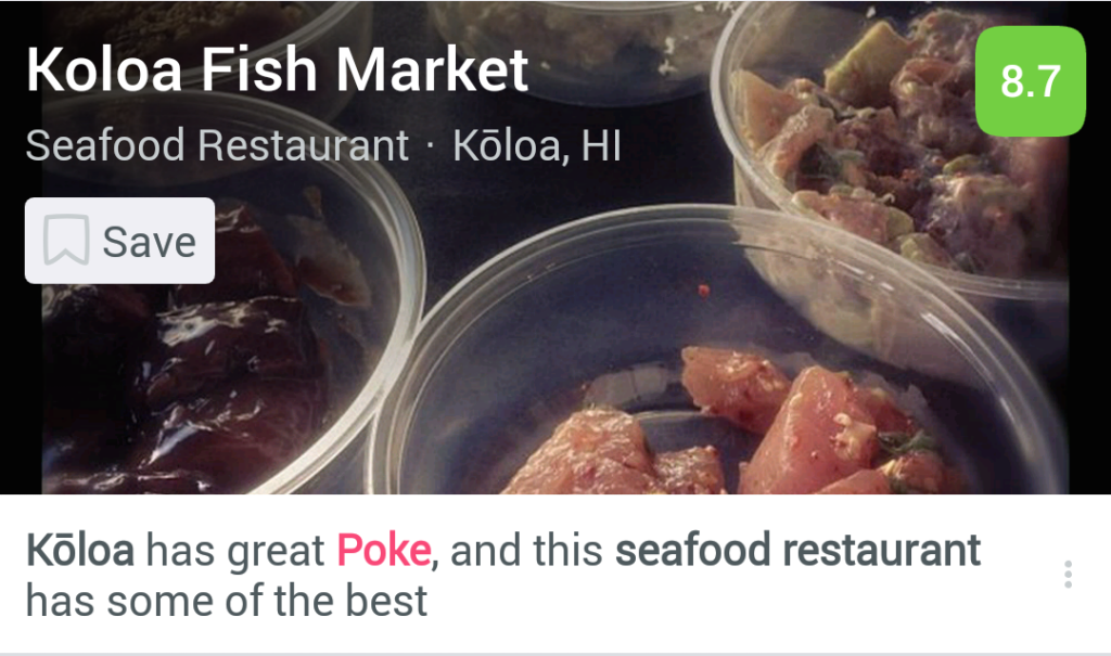 Koloa Fish seafood restaurant in Foursquare City Guide