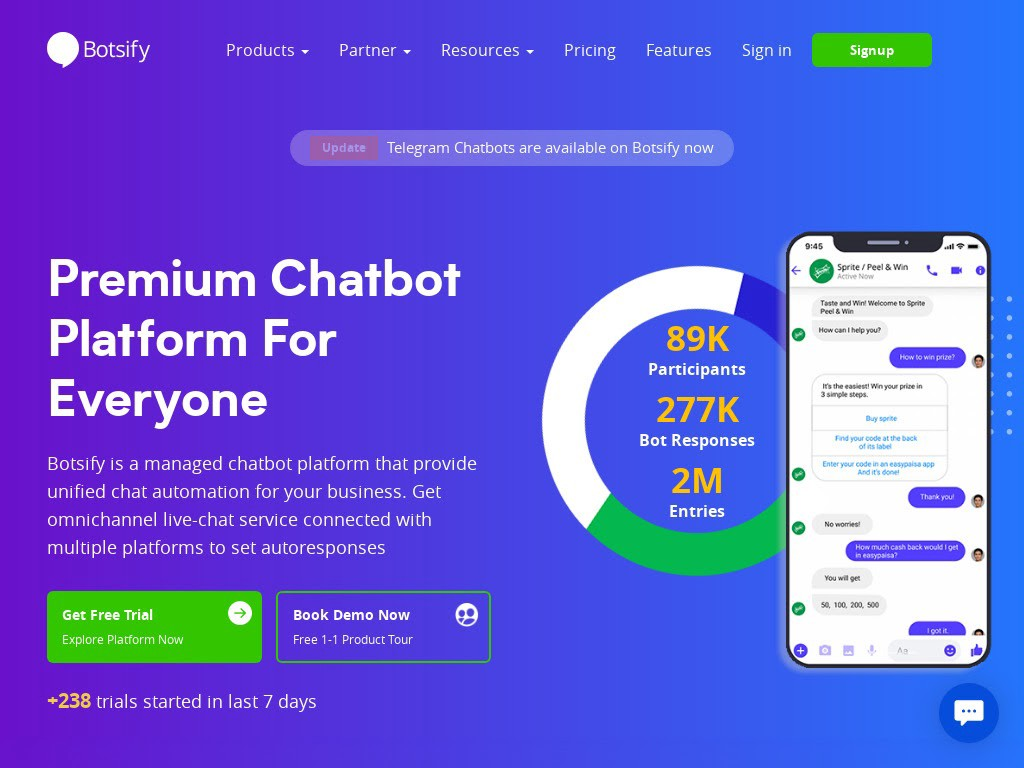 Botsify is another commendable chatbot platform