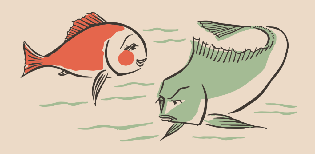 two fish art