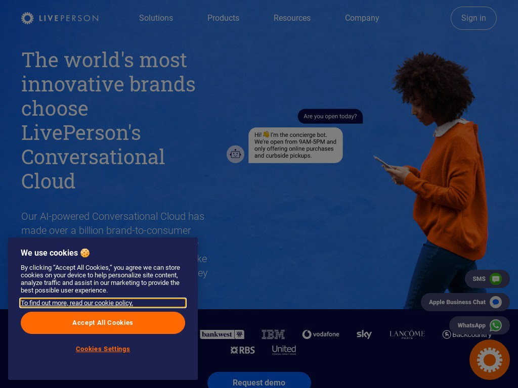 LivePerson is the world's first conversation cloud