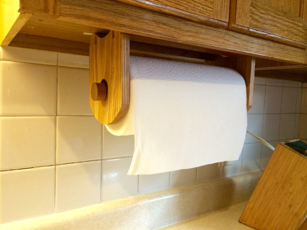 building an under cabinet paper towel holder u2013 sql lessons with bert wagner
