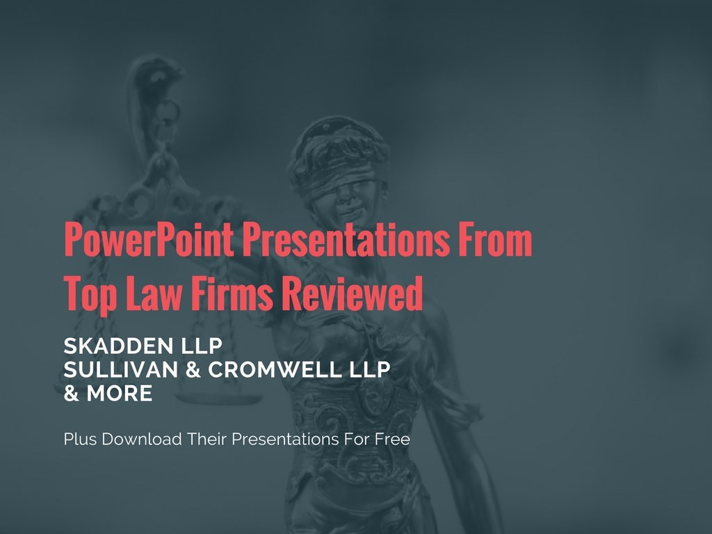 Powerpoints Reviewed For Top Law Firms Download Free Legal Templates