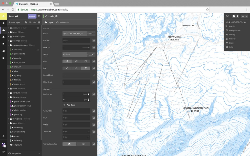 Ski Maps For Travel Apps Points Of Interest - Travel mapping software