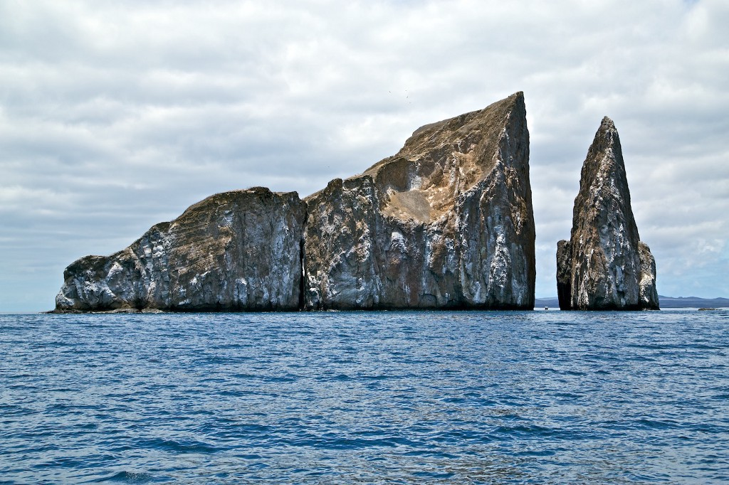 Photos Of The Galápagos Image: The opening of 25 photos of the Galápagos: A photograph of Kicker Rock, which formed as a result of hot lava shooting out of cold water.