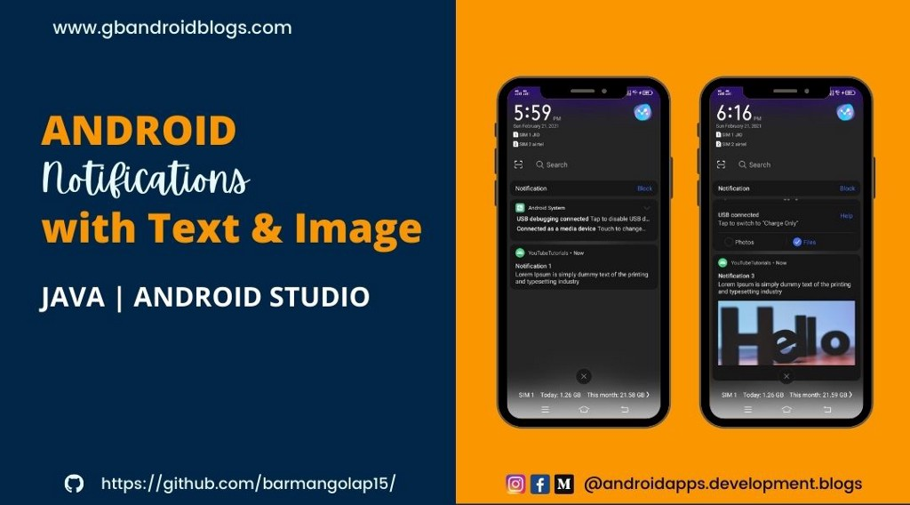 Android Notifications   Notification Channel   Big Picture Style   Android Studio