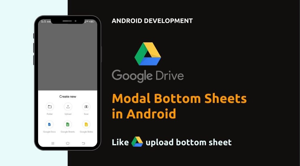 How to Create Modal Bottom Sheet in Android   Java   Android Studio