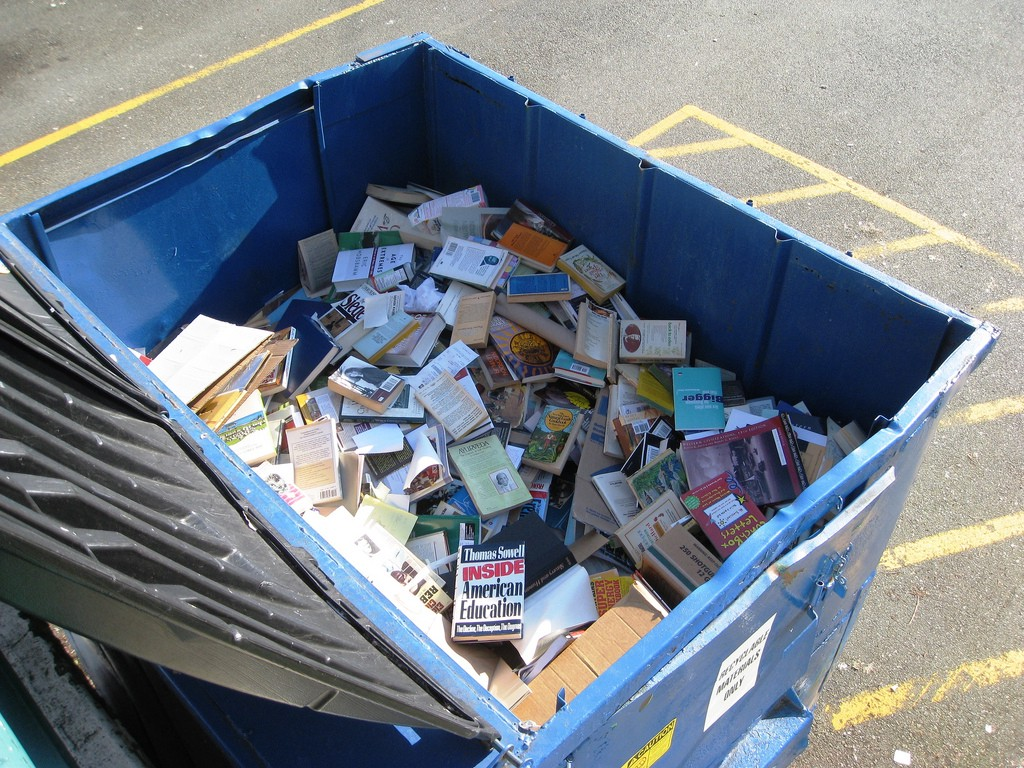 garbage collector rescues discarded books for children