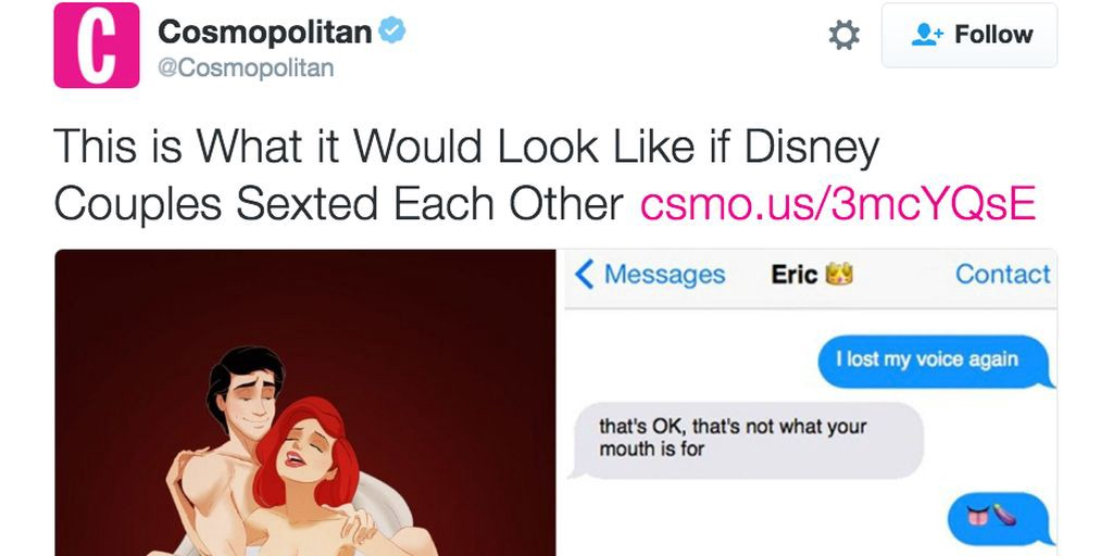 Cosmo Officially Goes Too Far With Article About Disney Characters Sexting