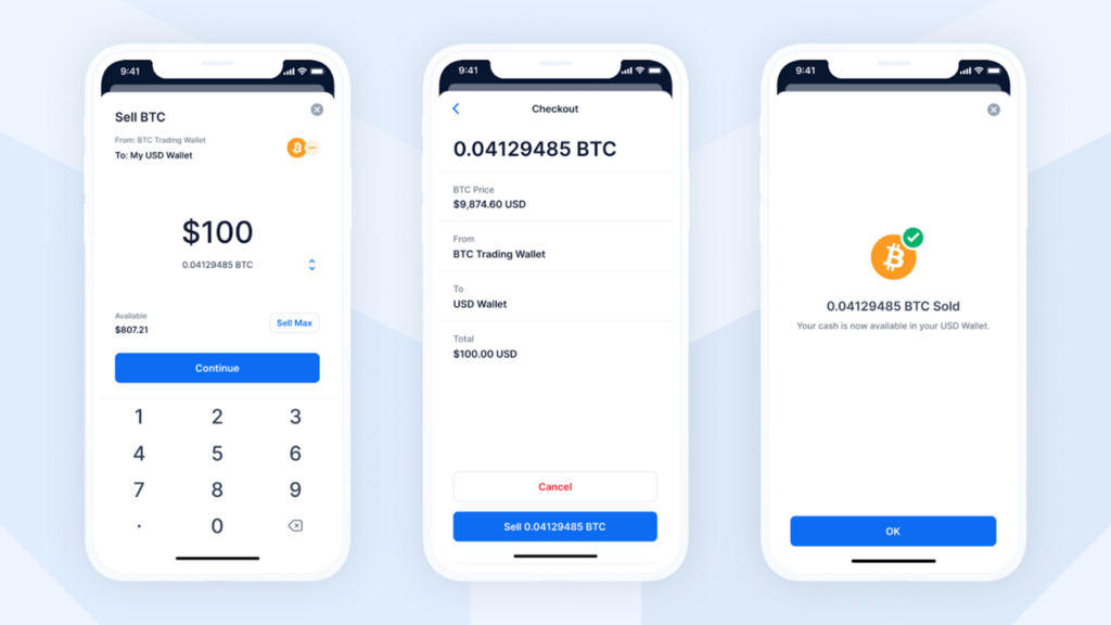 Sell into USD, GBP, and EUR cash wallets