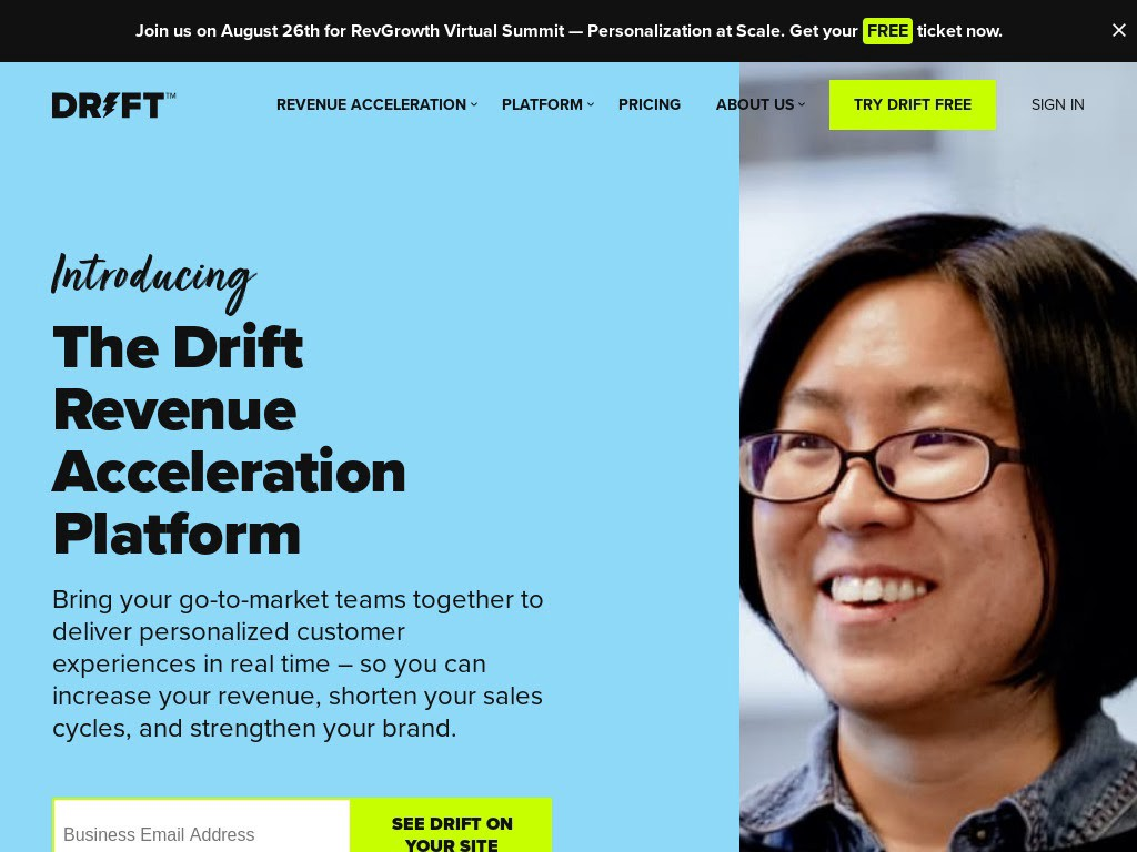Drift is yet another chatbot solution